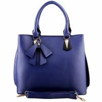 Nana Blanche Pretty Ribbon Tote Bag - Biru hitam