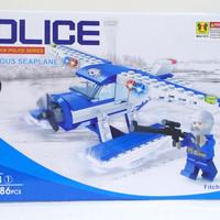 Lego Police Amphibious Seaplane / lego unik / lego murah - XIPOO - 130