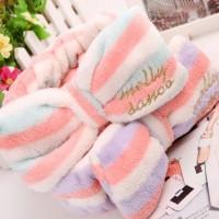 Handuk Kepala / Rambut Tipe Bando Untuk Cuci Muka / Mandi - BHR010