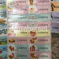 Jual Label Nama Stiker Waterproof Sticker anti Rilakkuma Bear Beruang Pink Murah
