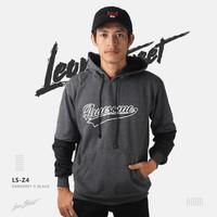 Jual sweater jaket cowok pria abu hitam hoodie jumper leon street LS-Z4 Murah
