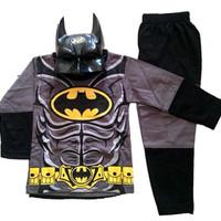 baju kaos anak cowok laki laki setelan bertopeng motif BATMAN