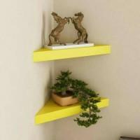 ambalan sudut 2pcs /rak dinding minimalis /floating shelves