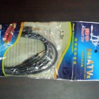KABEL AUDIO JACK 3.5 (AUX) PANJANG 1.5M GOLD PLATED ATV
