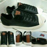 Sepatu Sneakers Converse Allstar Jack Purcell Leather Low Black Brown
