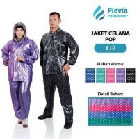 Jual Jas Hujan Stelan POLKADOT Plevia type 810 - Jaket Celana Pop Murah