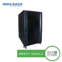 Indorack 32U IR6032G Standing Closed Rack with Glass Depth 600mm