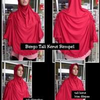 Jual Bergo Tali Kerut Serut Rempel / Jilbab Hijab Kerudung Instan Syari Murah