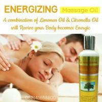 Energizing Massage Oil Aromatherapy Minyak Pijat Urut Gosok di Spa
