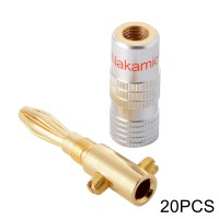 HS512 Jack Audio Nakamichi Banana Plug Adapter Connector Speaker 20pcs