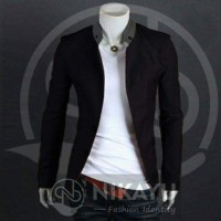 BLACK COCO - Blazer Jas Casual Koko Jasko Model baru Pria Cowok Gaul