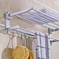 Jual rak gantungan handuk aluminium dinding kamar mandi / towel hanger Murah