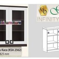 KSA 2562 Kitchen Set Pintu 2 Atas Kaca Infinity Graver