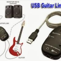 USB GUITAR LINK CABLE / USB GITAR BISA RECORDING DI LAPTOP / PC / MAC