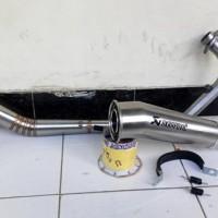Jual Beli knalpot honda cbr 150 facelift new akrapovic megaphone ful