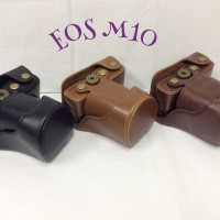 LEATHER CASE CAMERA FOR MIRRORLESS / KAMERA CANON EOS M10 KIT 15-45MM