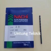 Mata Bor Besi 2mm Nachi HSS