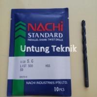 Mata Bor Besi 5mm Nachi HSS