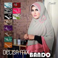Hijab / Jilbab Khimar Delisa Bando Abu-Pink
