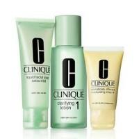 Clinique 3 step Dry Set ( Liquid Facial Soap 30ml Clarifying Lotion2 3