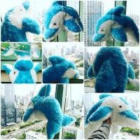 Boneka mainan anak hewan air laut Si lumba lumba /dolphin big size SNI