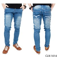 Celana Pria Celana Jeans Panjang Jeans Biru CLN 1014