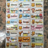 Jual Label Nama Stiker Waterproof Sticker Beruang Teddy Baby Pooh Bear ML Murah
