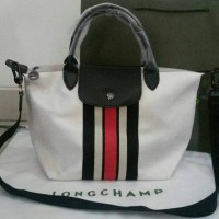 AUTHENTIC LONGCHAMP RUBAN D'OR METALLIC CANVAS With Long Strap