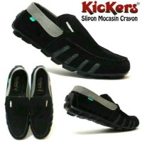 harga Sepatu Kickers Mocassin Crayon Casual Slip On Pria 6 Warna Tokopedia.com