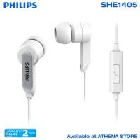 PHILIPS SHE 1405 In-Ear Headphone With Mic Neodymium Magnet - Putih