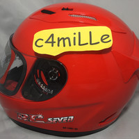 Helm Full face KYT RC7 / RC 7 Fire Red