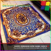 Karpet Permadani Lokal Super Shama Motif 9 Blue 160x210cm