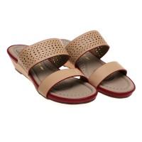 Bata Comfit Berth Strappy Sandals - Beige