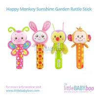 Happy Monkey Sunshine Garden Rattle Stick