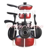 Pot Rak/Pan Tree/Holder Panci/Rak Panci Dapur/Tempat Penyimpanan Panci