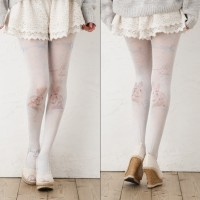 Pusat Aksesoris Cosplay - PANTYHOSE LOLITA RABBIT BLUE