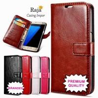 harga Luxury leather case handphone Samsung Galaxy S7 Edge flip case cover Tokopedia.com
