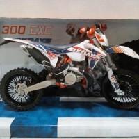 harga Diecast Miniatur Motor Cross Trail KTM 300 EXC Sixdays Harga Murah Tokopedia.com