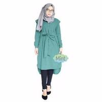 Cassava tunic mint / tunik hijab kekinian baju model butik harga murah
