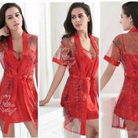 Baju Kimono Bajutidur Tidur Seserahan Satin Seksi Cantik Import Murah
