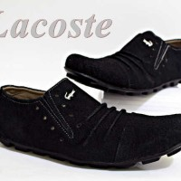 Sepatu Slip On Pria Lacoste Zuma Black