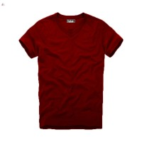 Jual Bafash T-shirt V-neck Maroon / Kaos Polos Merah Maroon Murah