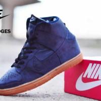 Sepatu Nike Dunk Wedges Navy