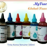 TINTA DYE INK KOREA COMPATIBLE REFILL PRINTER HP 100ML KERUCUT CAIR