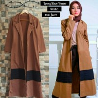Jaket Wanita Korea Long Sleeve Mocca Blazer Fleece