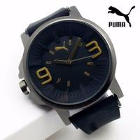 Diskon! Jam Tangan Pria Puma Ultrasize P02 Rubber Black List Gold