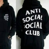 be19fa076479 Jaket hoodie   Anti social social Club   warna hitam
