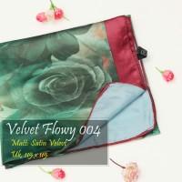 Grosir Kerudung | Pashmina Murah | Baju Murah : Velvet Flowy043