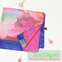 Grosir Kerudung | Pashmina Murah | Baju Murah : Velvet Flowy093