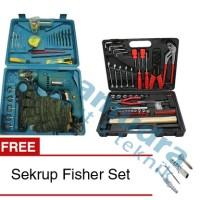 Paket Mesin Bor MODERN M2130B + Tool Kit KENMASTER + Sekrup Fisher Set